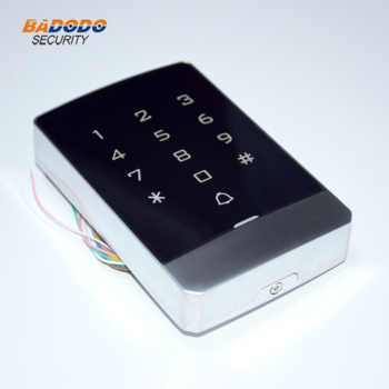 IP68 waterproof metal case touch keypad standalone access controller reader T9 support 125KHz RFID EM ID or 13.56MHz MF IC card