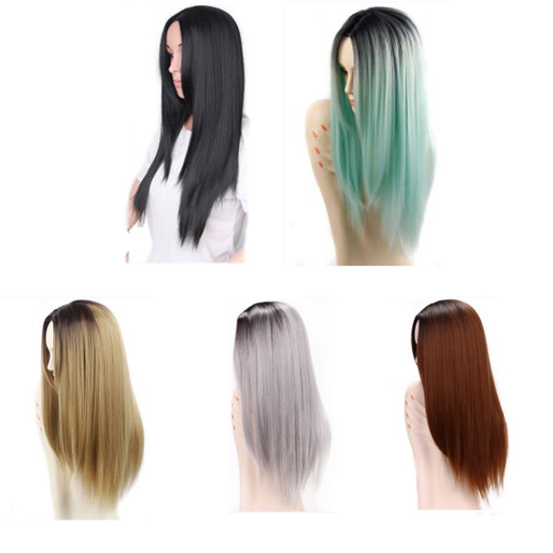 Wig Long Straight Hair Cosplay High Density Temperature Synthetic Party Womens Wigs Lady Anime Costume