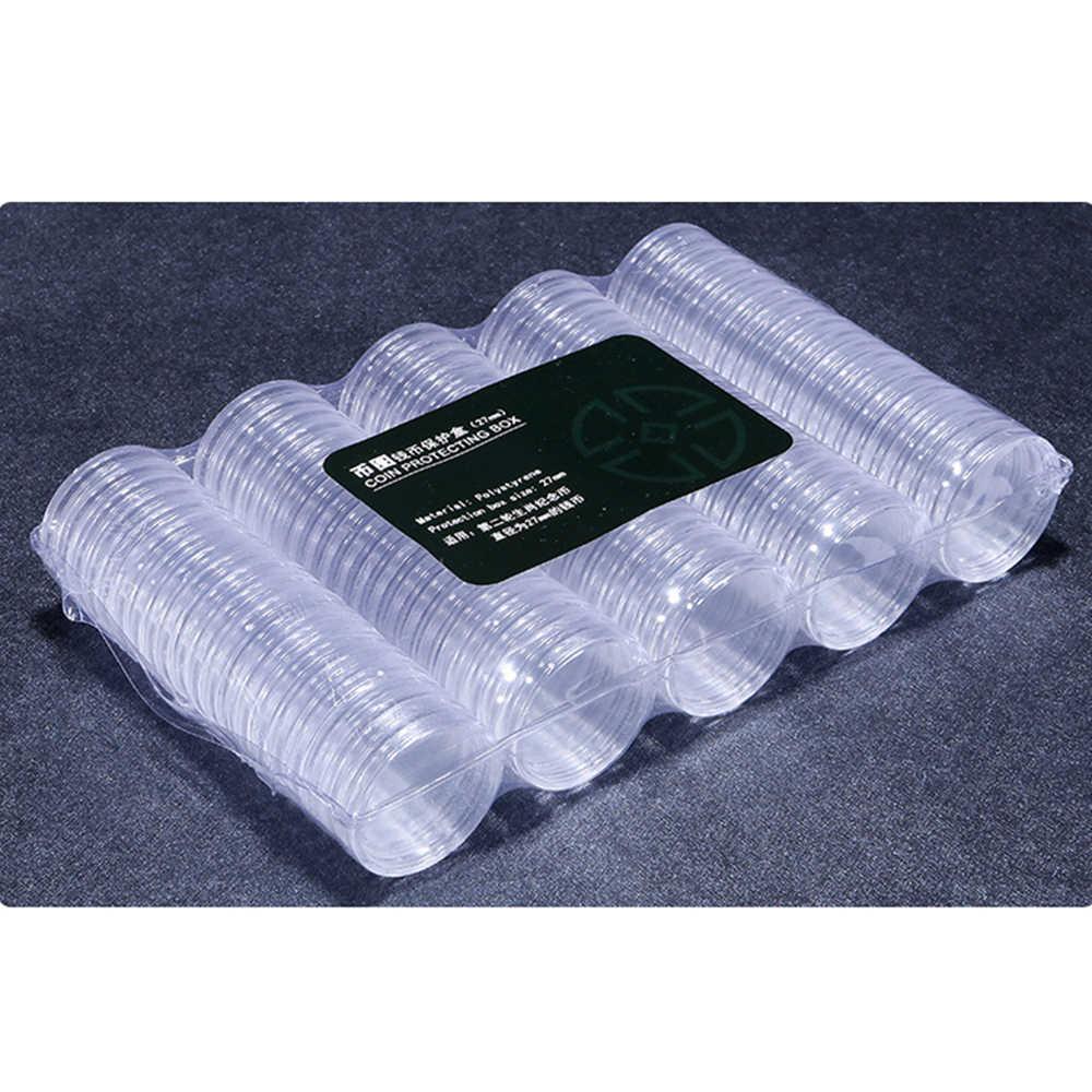 plástico transparente. Los botones 40 mm Redondo 20 cm de largo tubos de almacenamiento de piezas pequeñas cuentas