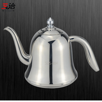 Novo estilo 304 bule de aço inoxidável com 304 aço inoxidável infusor coador calor café bule chá ferramenta chaleira conjunto para casa|Bules|   -
