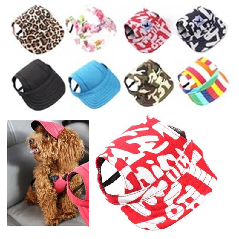Pet Small Medium Dog Hat Baseball Hat Summer Fashion Cute Print ...