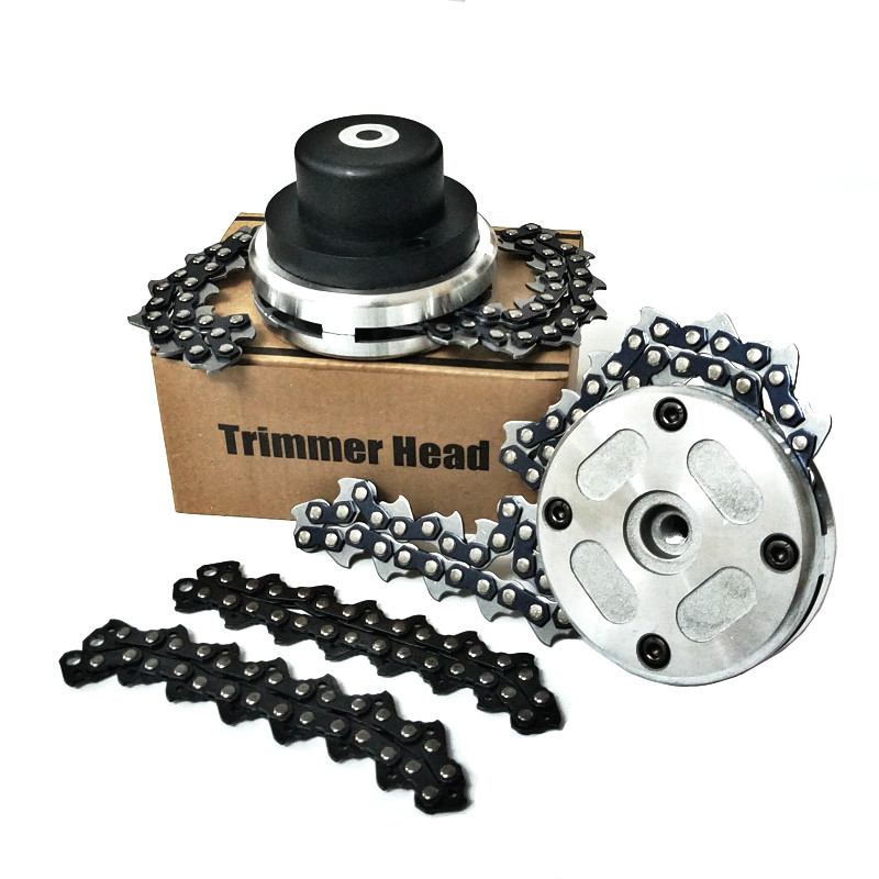 NEW 65Mn Trimmer Head Coil Chain Brush Cutter Garden Grass Trimmer Head With Thickening Chain For Lawn Mower Drop Shipping