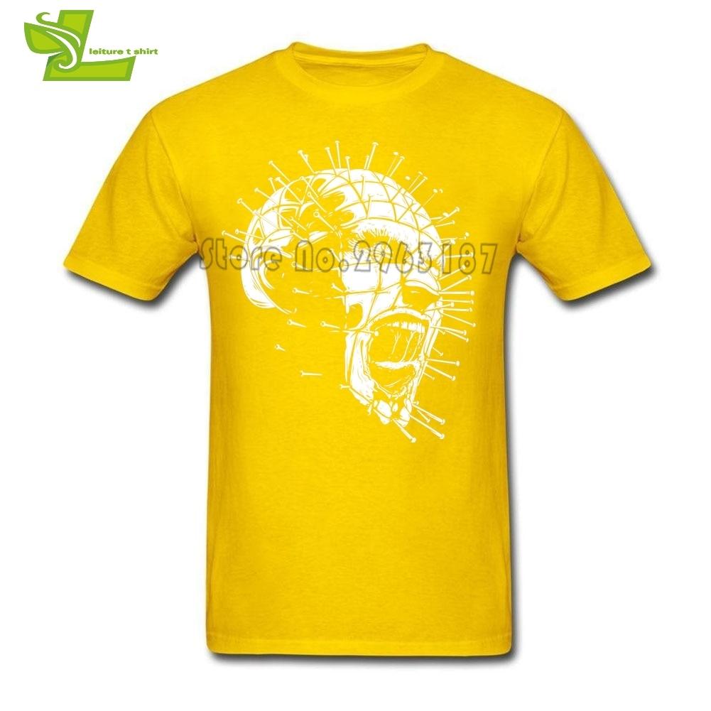 Hellraiser Pinhead Horror T Shirt Guys Simple Tee Shirts Home Wear Summer Loose T-Shirts Men's Crew Neck Novelty Dad Tee