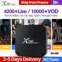 X96 мини Франция IP ТВ Box Smart Android 7,1 IP ТВ французский арабский iptv поле SUB ТВ Код IP ТВ подписки Испания Канада Турция португальское IPTV