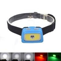 Étanche Mini LED Projecteur 1800 Lumens R5 Phare Rouge/Vert (8 LED) Lampe Frontale Lumière + Avertissement lumières par 3 * AAA Batterie