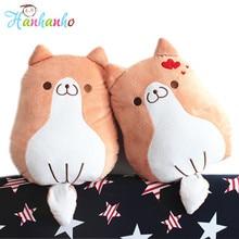 2017 New Arrival Couple Cartoon Figure Corgi Plush Toy Sofa Cushion Adorable Dog Animal Pillow Kids Gift