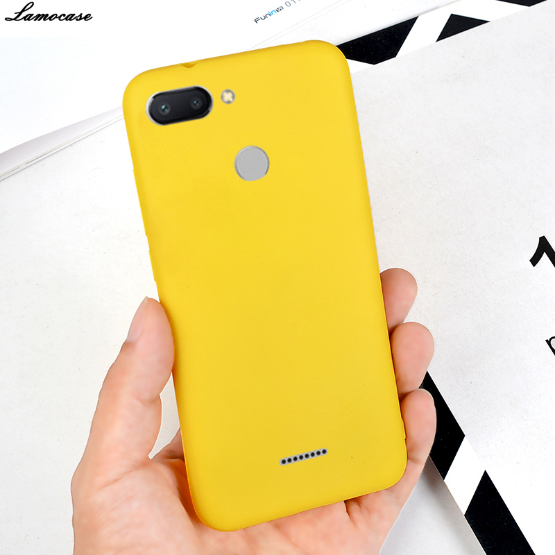 Yellow Silicone Case For Xiaomi Redmi Note 4X 5 6 Pro Plus 5A 4A 6A S2 Soft TPU Matte Cover Plain Protective Phone Back Cases