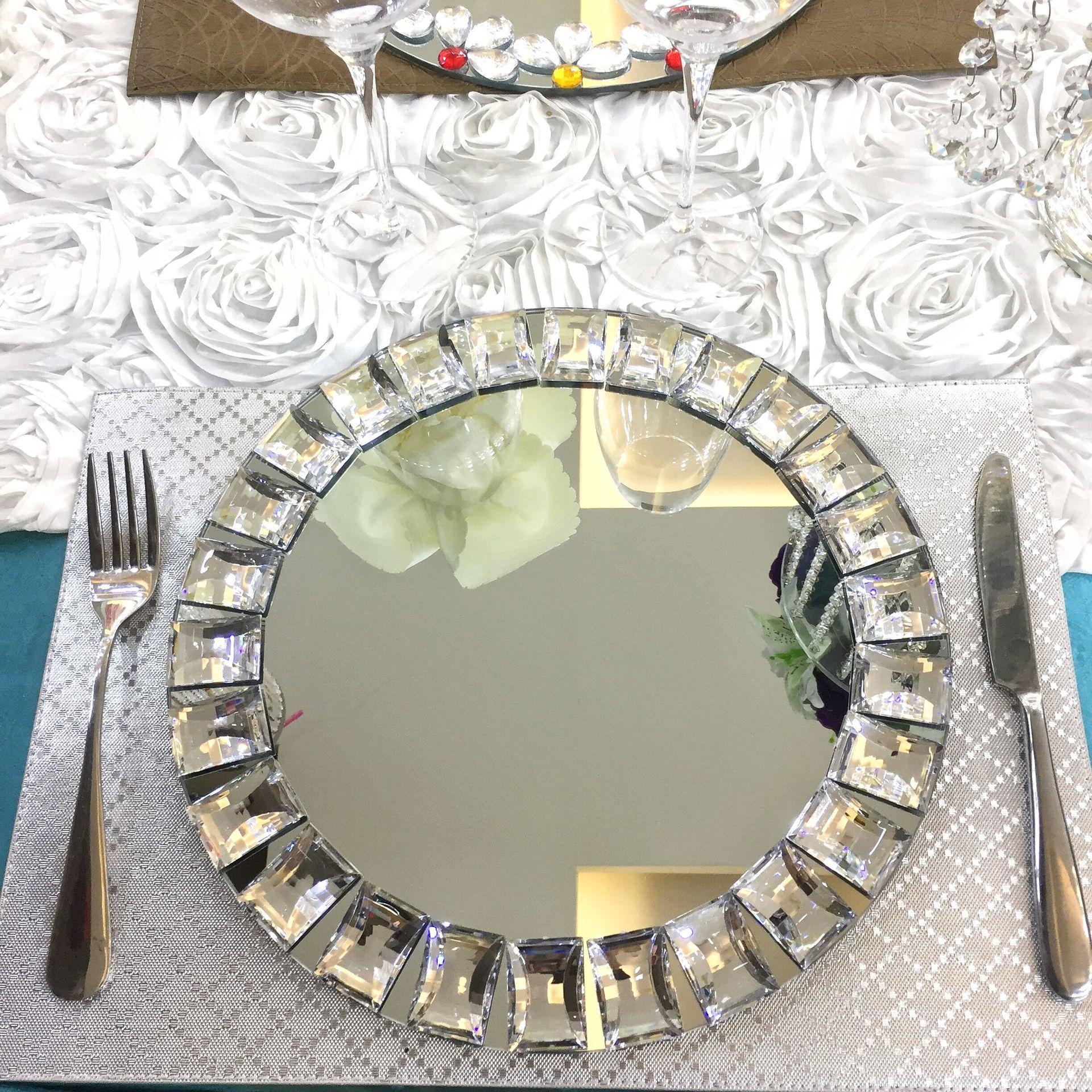 1 pièces conception de diamant en verre pour la décoration d'événement de mariage