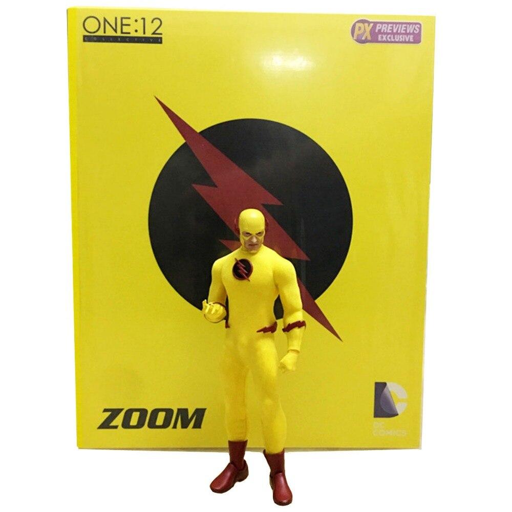 """Mezco <font><b>DC</b></font> Comics <font><b>Flash</b></font> <font><b>Zoom</b></font> One:12 Collective 6"""" <font><b>Action</b></font> <font><b>Figure</b></font> Free Shipping"""