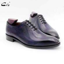 Cie/Мужские модельные туфли фиолетового цвета с квадратным носком; мужские рабочие туфли из натуральной телячьей кожи с натуральным лицевым покрытием; оксфорды; OX723
