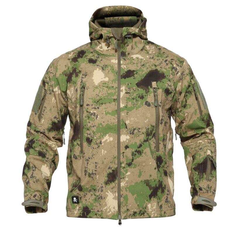 jaqueta militar uso externo de pele de tubarao camuflagem tad masculina impermeavel tactical revestimento macio esporte