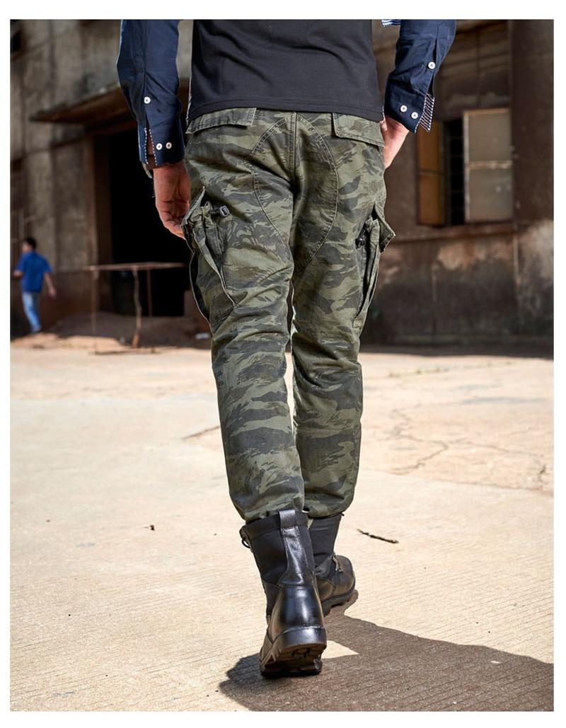 Moruancle Для мужчин военные Стиль камуфляж брюки-карго Повседневное камуфляж работы тактические брюки с несколькими карманами 100% хлопок Разме...