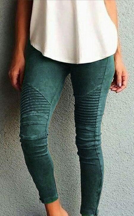 Nuevo multi-color mujeres pantalones moda casual Slim tight elástico pantalones Streetwear color sólido costura lápiz salvaje