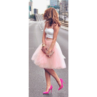 Tutu Soft Tulle Homecoming Dresses Cheap Simple Party Skirts Multicolor Tulle Layer