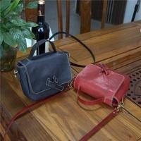 AETOO Retro vegetable tanned leather cow bag tree cream bag handmade portable Messenger bag