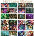 200 UNID Nuevo Láser de Láminas de Uñas Tips Manicura Láminas Holográficas Etiquetas 2016 Nueva Moda Transferencia Nail Art Stickers Papel TME050