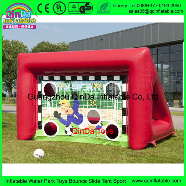 Inflatable Outdoor Sport Games, Hot Sale Cheap Price Inflatable Football Gate, Inflatable Soccer Goal With Air Blower