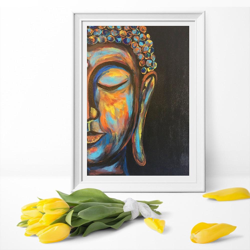 100% Waar Rusten Boeddha Boho Decor Poster Canvas Print Boeddha Gezicht Canvas Schilderkunst Muur Woondecoratie Unframed