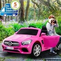 Uenjoy 12 v crianças passeio no carro com carros elétricos de controle remoto para crianças com música & primavera  rosa|Carrinhos p/ dirigir|   -