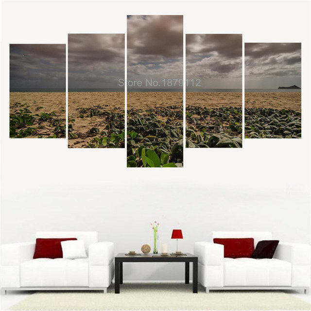 5 Pieces Canvas Wall Art Wide Beach Sea View Landscape Wall Picture ...