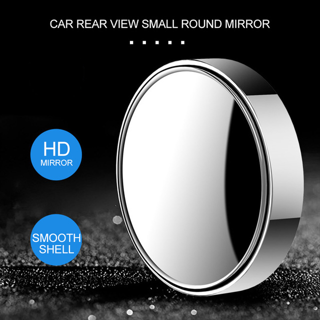360 Degree Rotary  Push Car Rear View Mirror Small Round Mirror Large Vision Reverse Assist Blind Spot Mirror Car Accessories 1