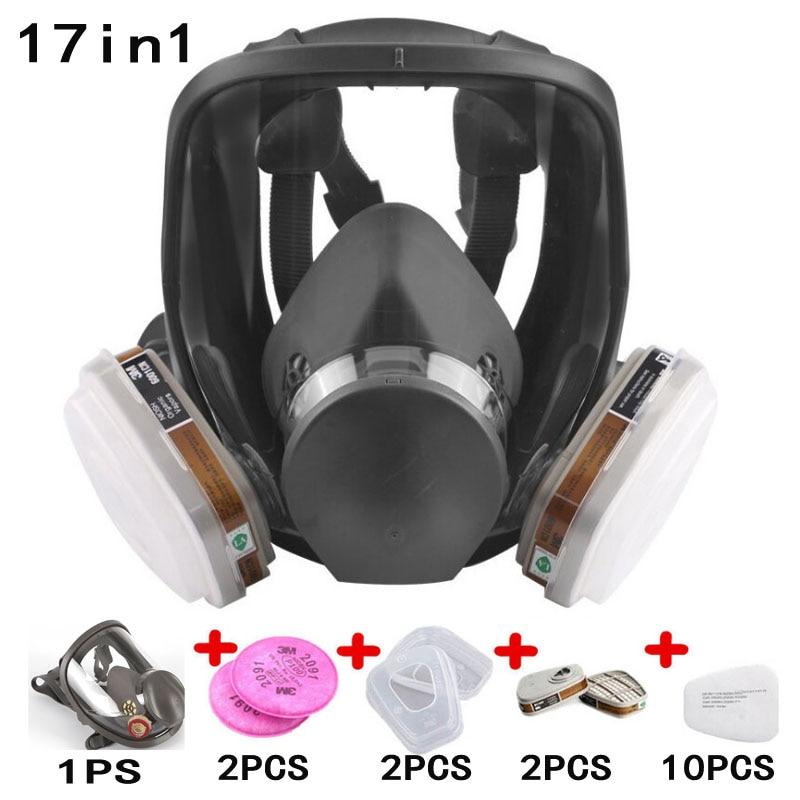 17 dans 1 Peinture Pulvérisation Respirateur De Sécurité 6800 Masque À Gaz même Pour 3 m 6800 Gaz Masque Plein Visage Masque respirateur