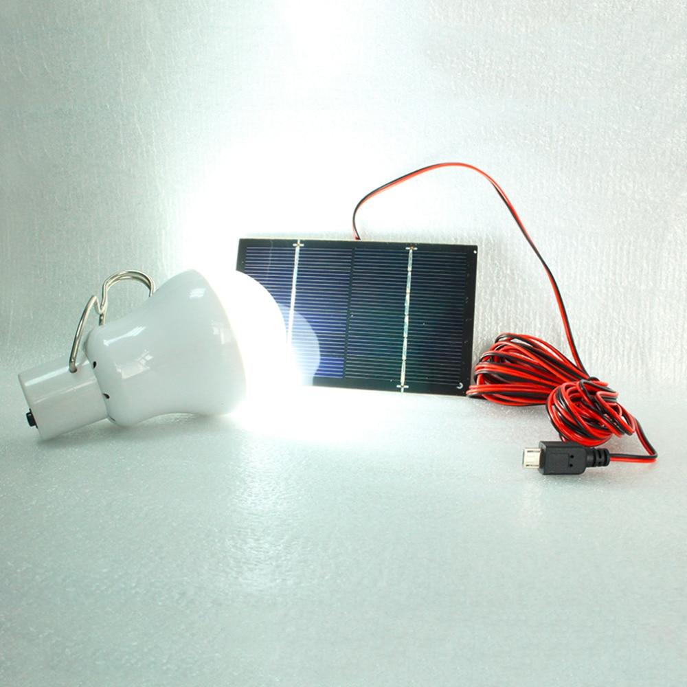 15W 130LM Portable Solar Power LED Bulb Solar Powered Light Charged ...