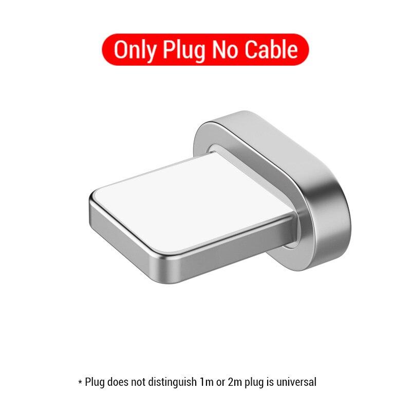 PZOZ Магнитный кабель Micro usb Тип C Быстрая Зарядка адаптер телефон Microusb Тип-C магнит Зарядное устройство usb c для iphone 11 pro X Max Xr samsung S10 S9 NOTE 10 9 8 xiaomi mi 9 8 6 A2 lite 6X redmi note 7 8 plus - Цвет: Only Plug NO Cable