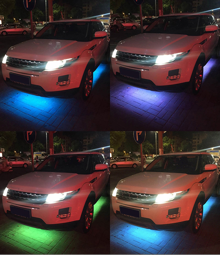 NINTE 4PCS 12V IP65 Bluetooth App Control Flowing Color RGB LED Strip