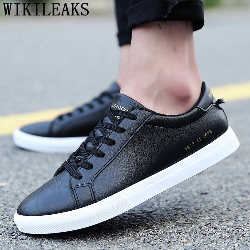 Homens sapatos casuais de couro branco sapatos masculinos marca de luxo designer sapatos de alta qualidade chaussure homme erkek spor ayakkabi bona