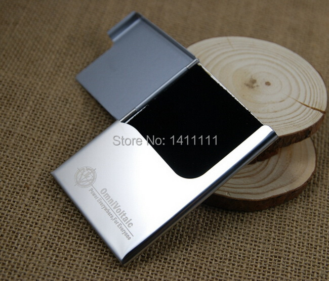 Logo Free Print Vogue Stainless Steel Silver Aluminium Business Id Name Credit Card Holder Case Advertising Dhl Fedex Shipping