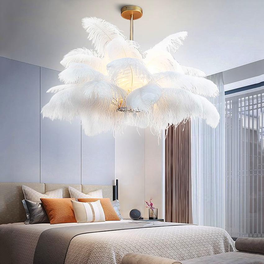 designer feather lamp