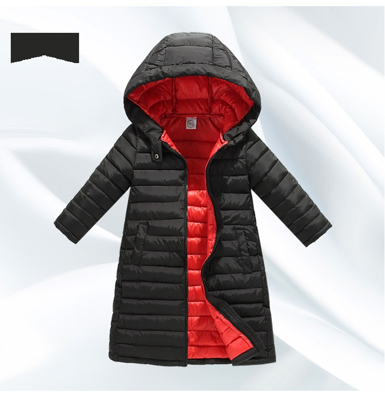 cheapest price free shipping elegant and sturdy package Winter Fashion Warm Cotton Kids X-Long Coat Heavyweight Baby Girls Boys  Jackets Children Outerwear For 1-12 Years Old