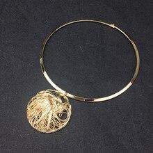 Брендовое модное недорогое колье-ошейник для женщин, большая металлическая проволока, подвески, ожерелье s, массивные ювелирные изделия UKMOC