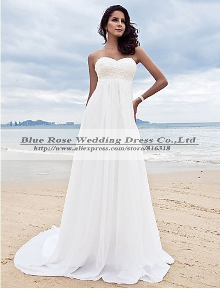 Vestido blanco para boda playera