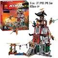 820 UNIDS 70594 Modelo Bloques Juguetes Ninja Batalla de Ciudad Castillo Ninjas Montado Bloques de Construcción de Ladrillos de Juguete Juguetes para niños de regalos CALIENTE