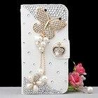 Luxury Crystal Rhinestone Wallet Style Bling Diamond Phone Case for Samsung Galaxy s4 mini s5mini