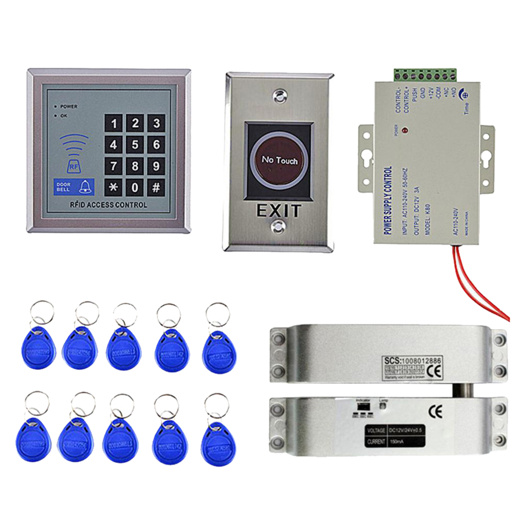 MagiDeal Door Access Control Fingerprint ID Card KeyPad System Electric Door LockMagiDeal Door Access Control Fingerprint ID Card KeyPad System Electric Door Lock