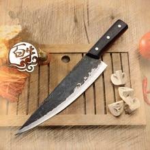Envío Libre de Metal Forjado Hecho A Mano Clip de Deshuesado Cuchillo Cocinero de Acero Dividida Carnicero Cuchillos Rebanar Carne Cuchillo de Cocina Profesional