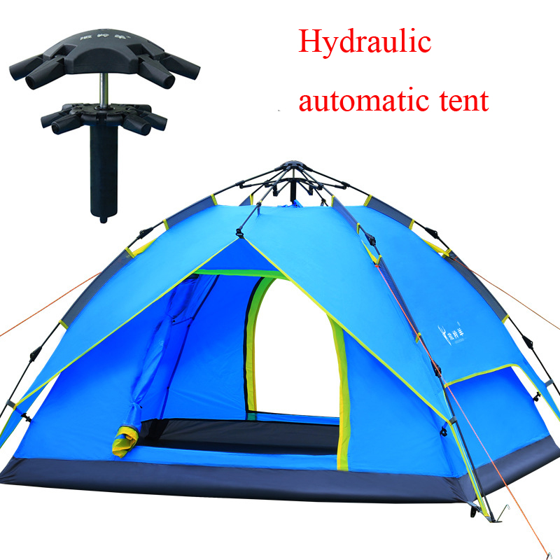 ФОТО Special hydraulic automatic quick open 3-4persons outdoor camping family travel tent 200*180*130cm with double layer