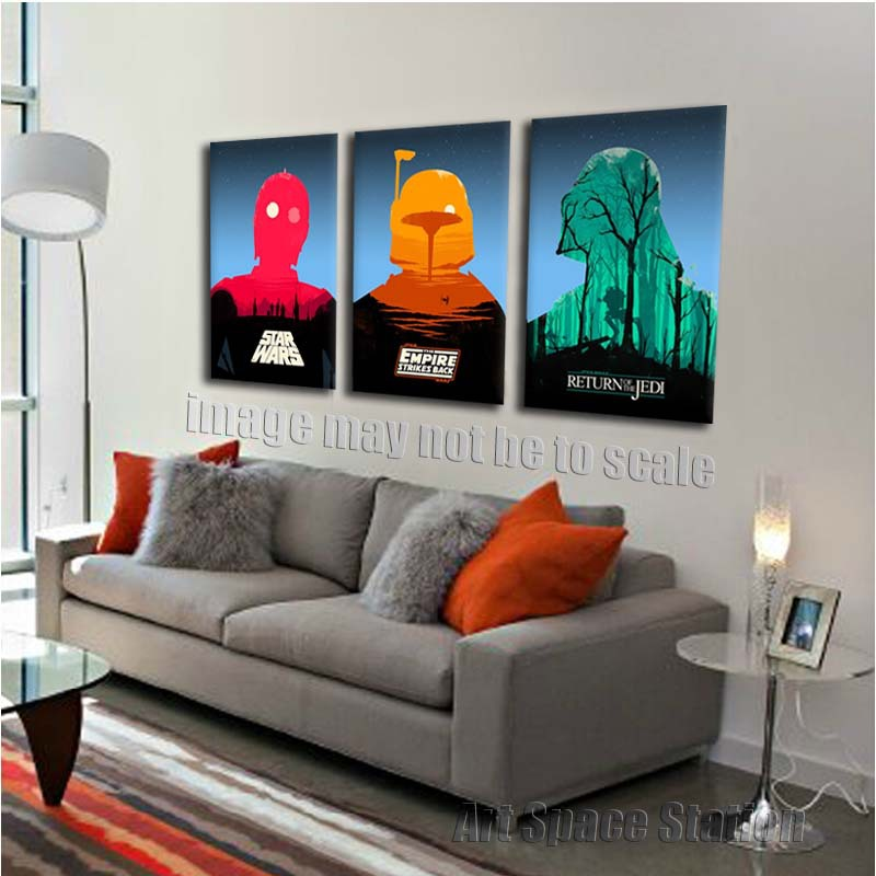 Star wars living room decor living room for Wall poster for living room