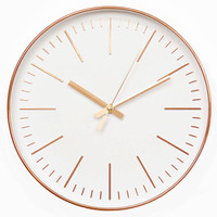 12 Inch Rose Gold Wall Clock Modern Minimalist Round Clock Plastic Wall Clock Mute Quartz Clock Home Decorate