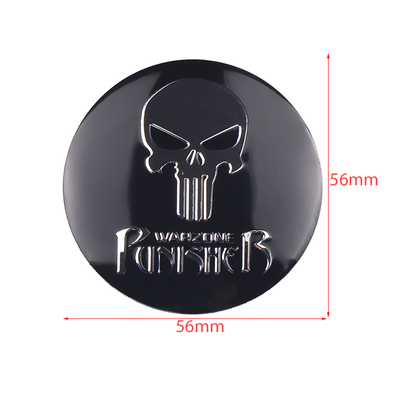 Image 2 - New THE Punisher Skull Metal Skeleton Car Steering tire Wheel Center sticker Label Skull Emblem Badge Stickers Car Styling 4Pcs-in Car Stickers from Automobiles & Motorcycles
