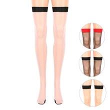 f441f912df217 Thigh High Stocking Women Over Knee Sexy Girl Female Hosiery Heal Seamed  Seam Punk Stretch Style