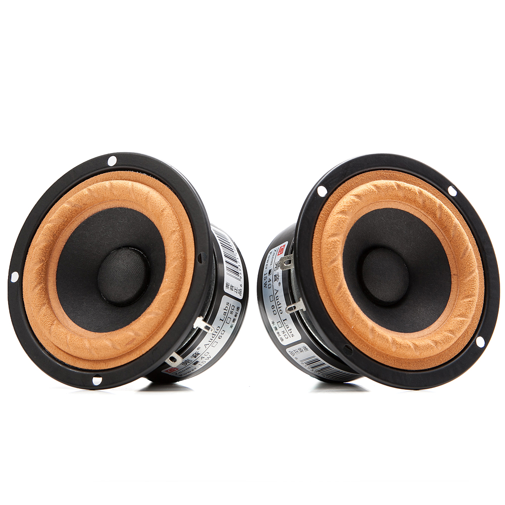 2PCS Audio Labs 3inch Full Range Frequency Speaker Driver Special Cloth Suspension Magnetism Shielded 4/8ohm 20W Round/Square