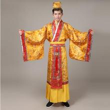 ancient chinese hanfu costume men clothing traditional China tang suit oriental Chinese emperor Cloth include hat