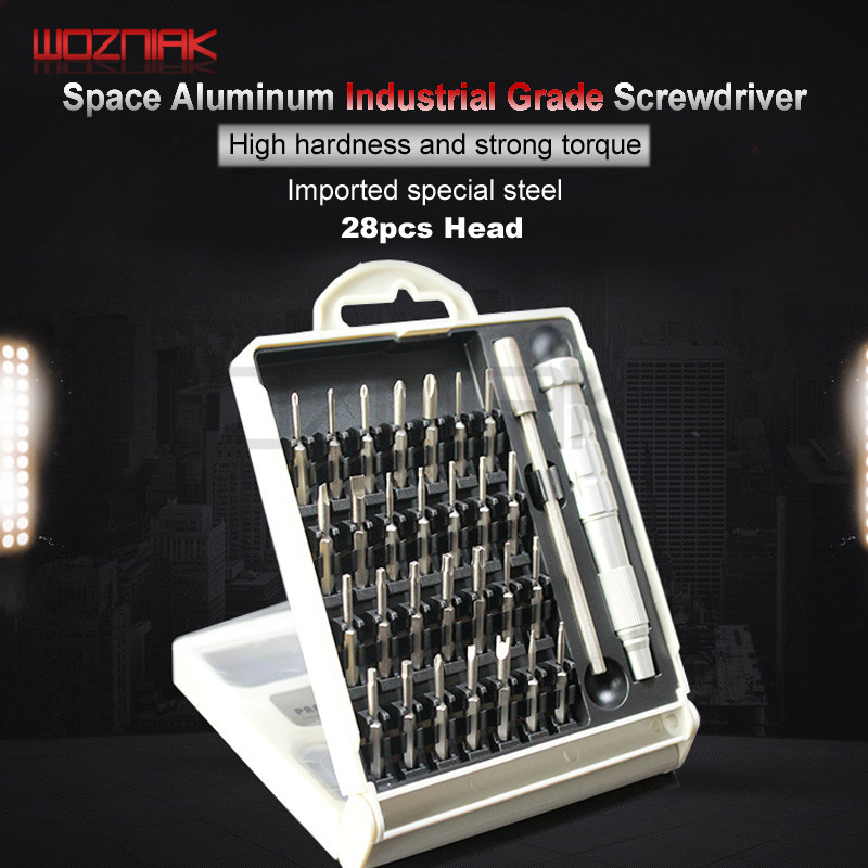 Wozniak Universal Screwdriver Set 28 in 1 Torx Screwdriver Repair Tool For iPhone Cellphone iPhone Computer Electronics Laptops universal waterproof bag w built in compass armband strap for iphone cellphone black