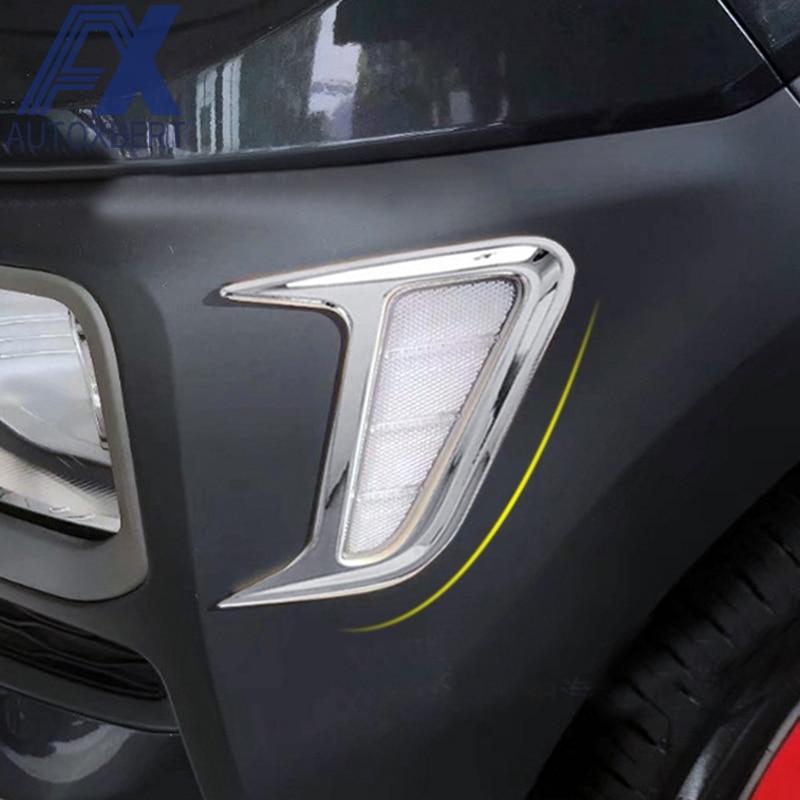 For Hyundai Kona 2017 2019 Chrome Front Fog Light Lamp: AX Chrome Front Side Turn Signal Light Turning Fog Light