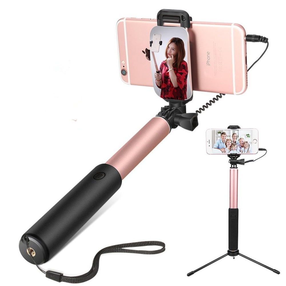 Extendable Handheld Monopod Selfie Stick with Rear Mirror Mini Tripod Self-portrait for iPhone 5 6s plus Samsung S6 S7 S8 XIAOMI бра odeon light ragon 2867 1w