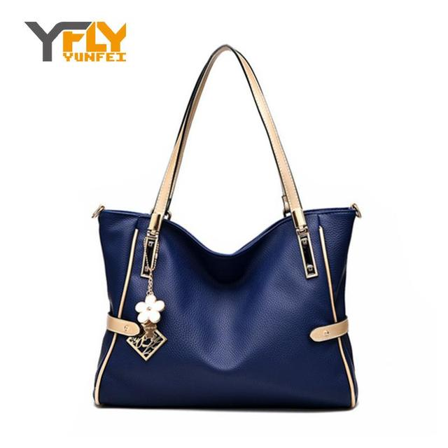 Y-FLY Brand PU Women's Leather Bag Top-Handle Handbag Patchwork Women Messenger Bags Female Fashion Shoulder Crossbody Bag HC240